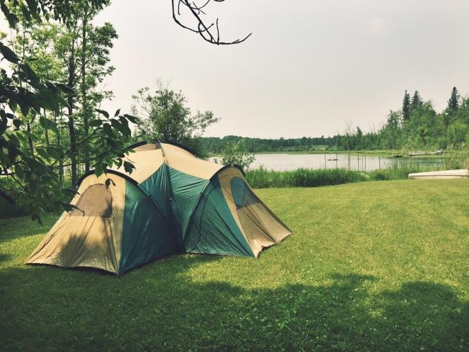 Camping at the Cabin